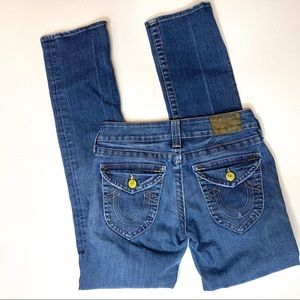 True Religion straight leg jeans sz 27